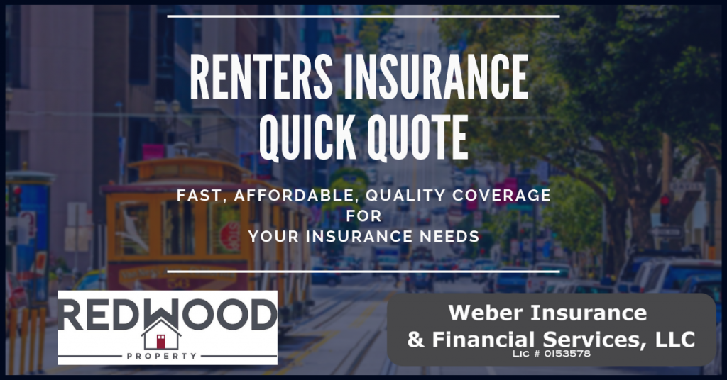 Redwood Property Renters Insurance Quote Form
